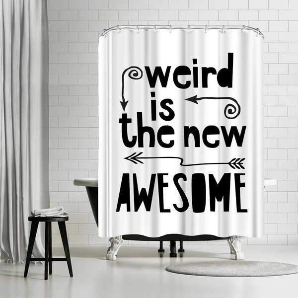 Lebens Art Awesome Weird Shower Curtain by East Urban Home