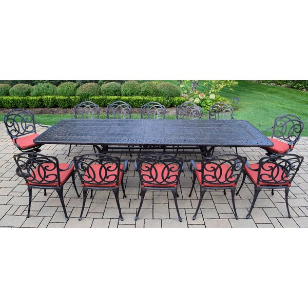 Robicheaux 13 Piece Dining Set with Cushions