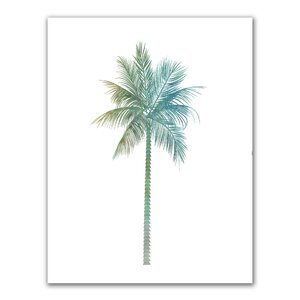 'Watercolor Tropical Palm Tree' Painting Print by Jetty Home