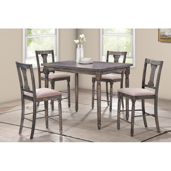 Vanzandt 5 Piece Counter Height Dining Set by Ophelia & Co.