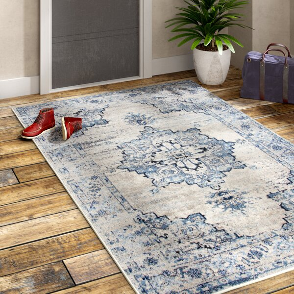 Lanette Blue/Gray Area Rug by Williston Forge