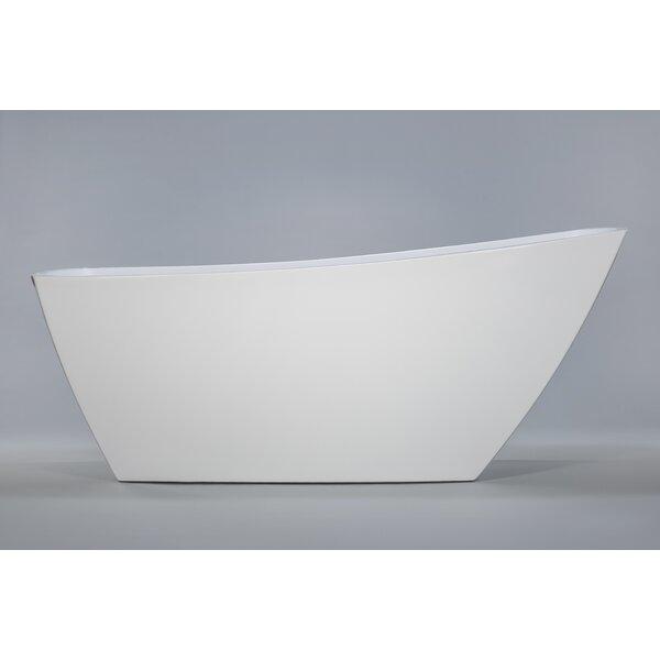 Sicily 67 X 32 Freestanding Soaking Bathtub by Kokss