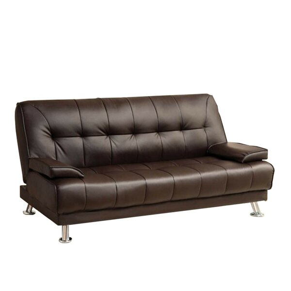 Jhunjhunwala Leatherette Convertible Sofa by Latitude Run