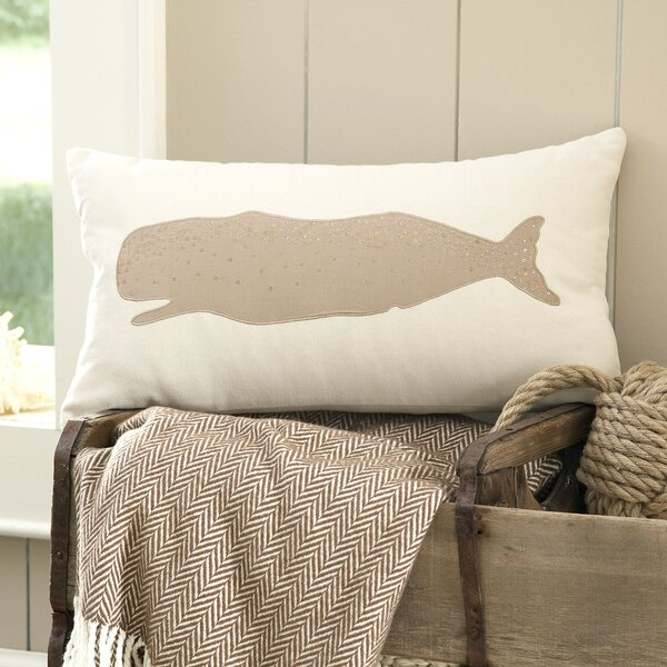 Whale Marina Embellished Pillow Cover by Birch Lane™