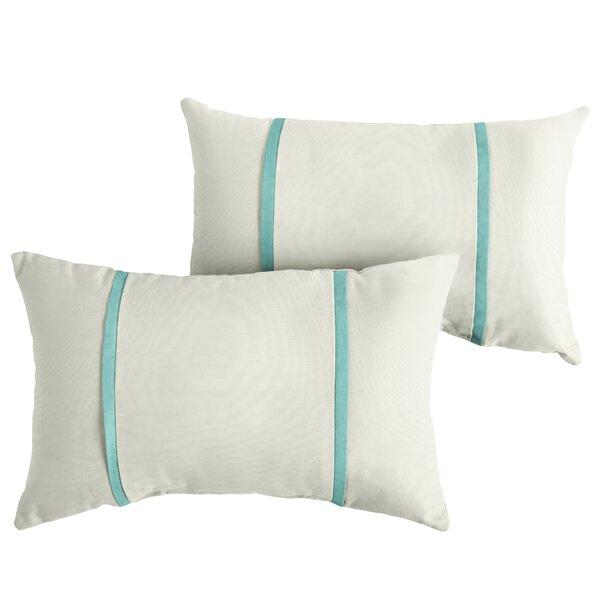 Hillenbrand Indoor/Outdoor Sunbrella Lumbar Pillow (Set of 2) by Highland Dunes