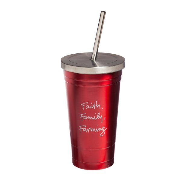 Brecht Farm 16 oz. Stainless Steel Travel Tumbler by Winston Porter