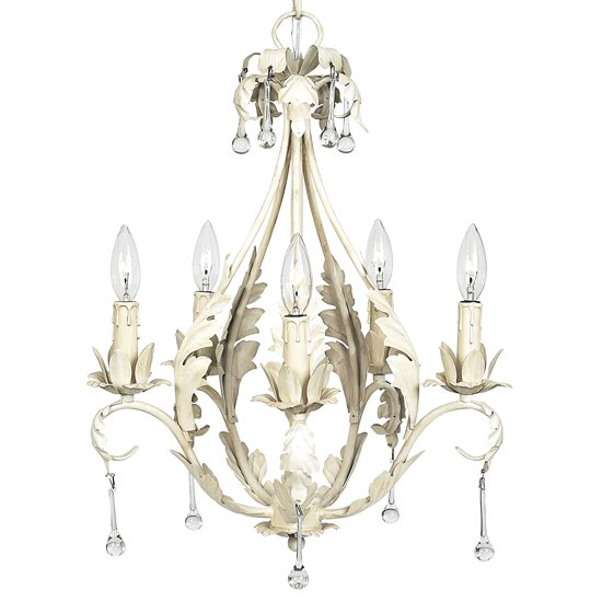 5 - Light Candle Style Classic / Traditional Chandelier By Jubilee Collection
