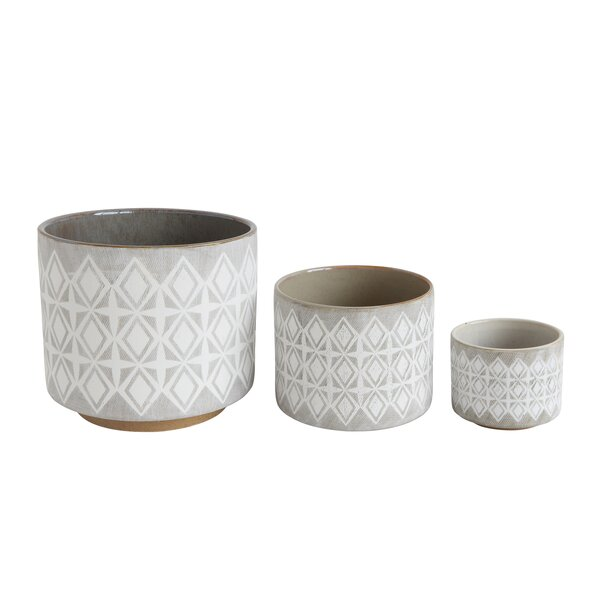 Marilou 3-Piece Stone Pot Planter Set by Mistana