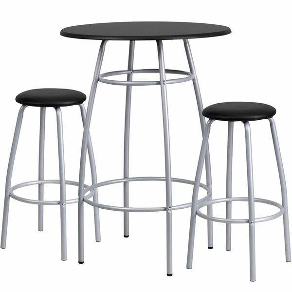 Eberhard 3 Piece Pub Table Set by Ebern Designs