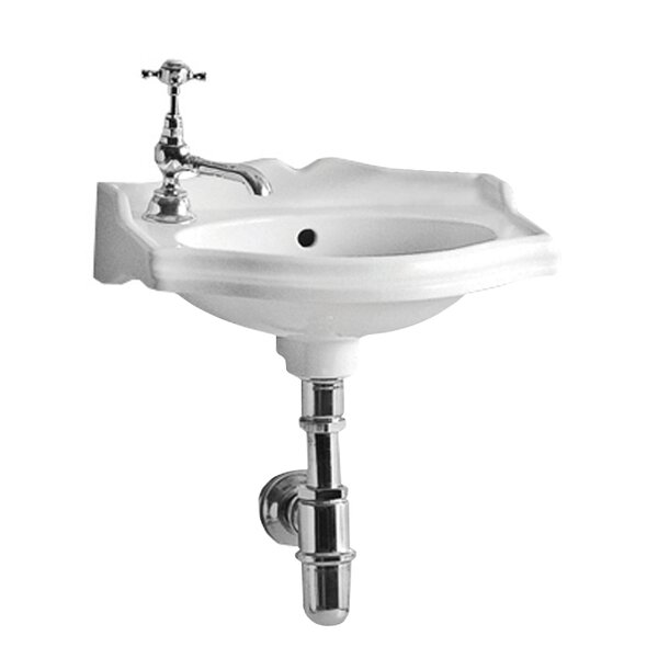China Series Vitreous China 15 Wall Mount Bathroom Sink by Whitehaus Collection