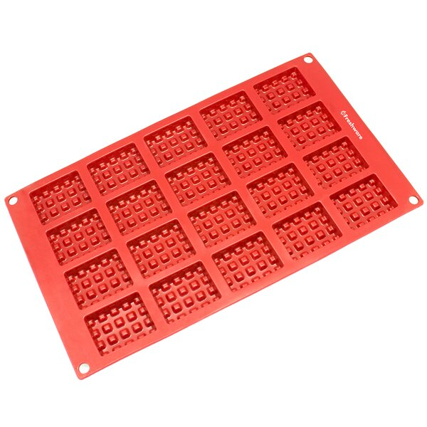 20 Cavity Mini Rectangle Silicone Mold Pan by Freshware