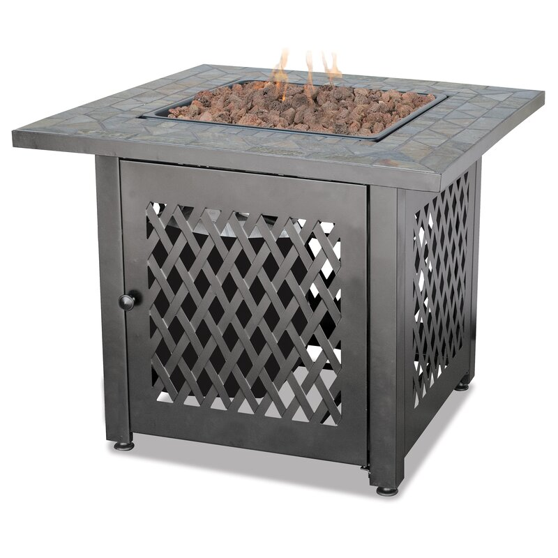 Blue Rhino Uniflame Slate Lp Gas Outdoor Fire Pit Table Reviews
