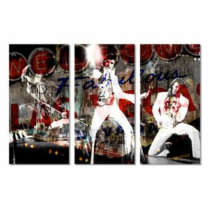 Iconic 'Elvis in Vegas' 3 Piece Graphic Art Set by Ready2hangart