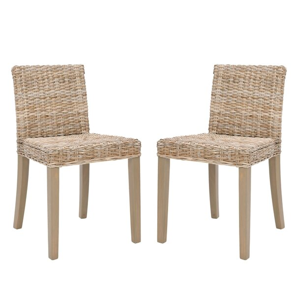 Buddy Wicker Side Chair (Set of 2) by Bay Isle Home