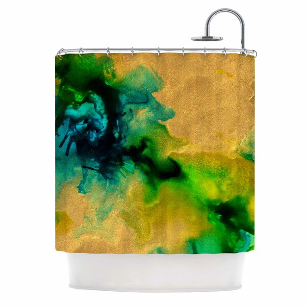 Claire Day Glamorous Abstract Shower Curtain by East Urban Home