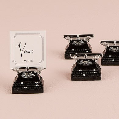 Vintage Typewriter Place Card Holder (Set of 12) by Weddingstar