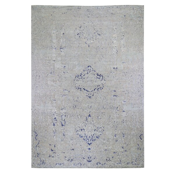 One-of-a-Kind Westerham Hand-Knotted 2010s Gray 11'10 x 14'10 Area Rug