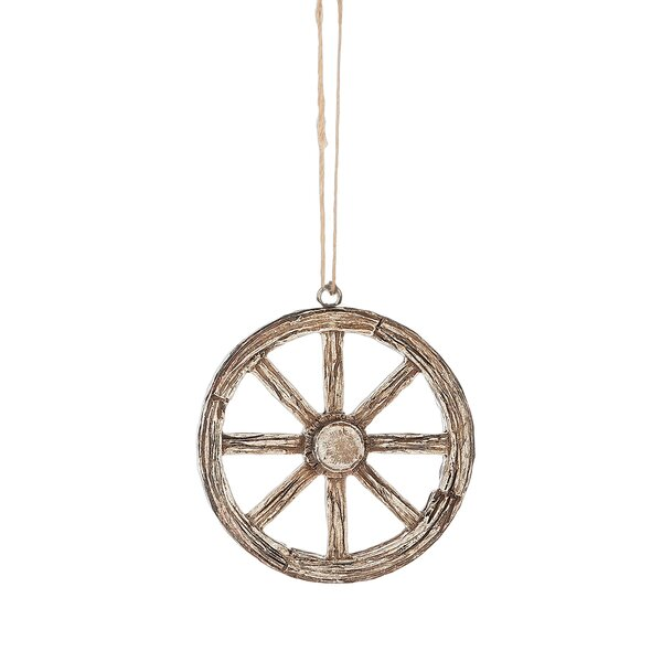 Wagon Wheel Hanging Figurine by Breakwater Bay