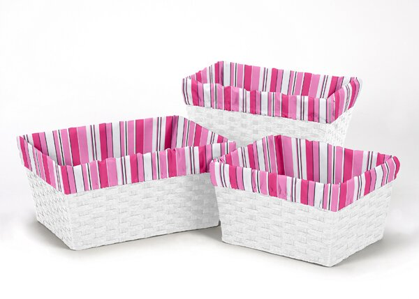 Madison 3 Piece Basket Liner Set by Sweet Jojo Designs