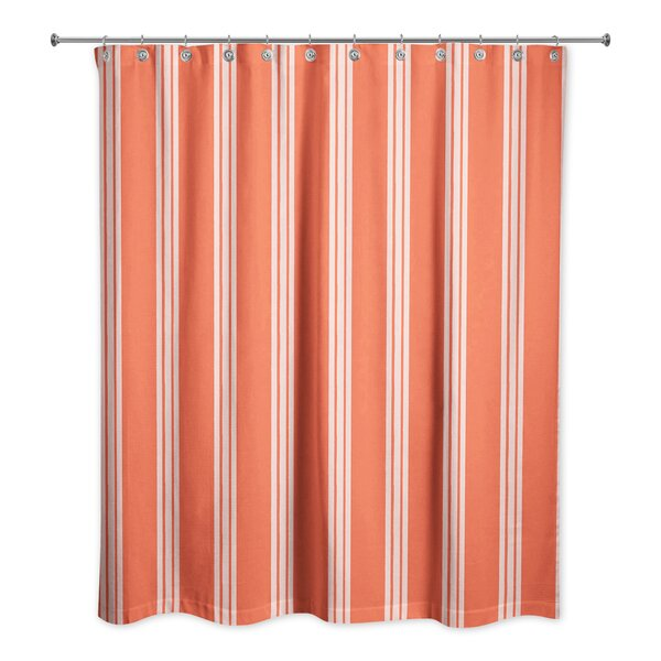 Mathes Stripe Shower Curtain by Winston Porter