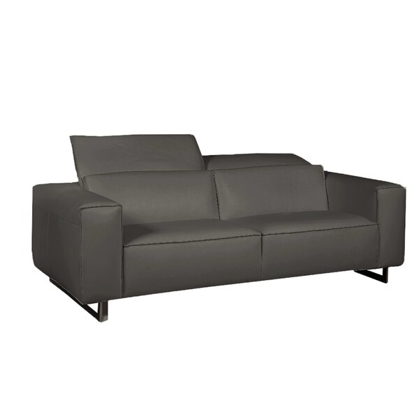 Giadia Leather Loveseat by Bellini Modern Living