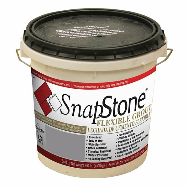 Urethane Flexible Grout 9 Lb Pail In Raincloud Grey by SnapStone