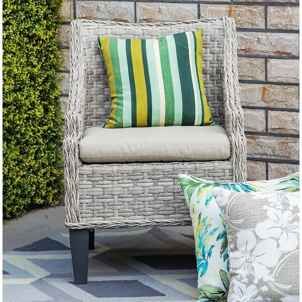 Carlson Patio Chair with Cushion (Set of 2) by Rosecliff Heights
