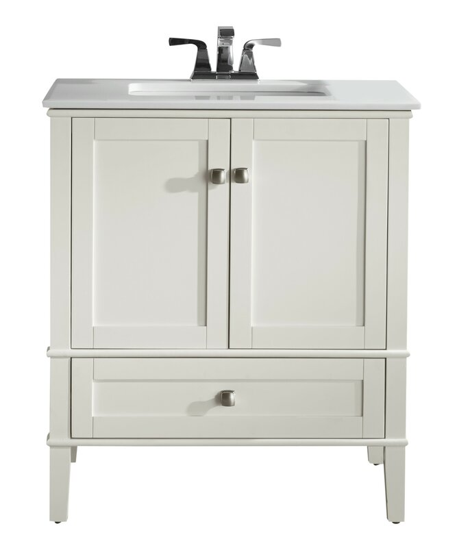 Simpli Home Chelsea 31 Single Bathroom Vanity Set
