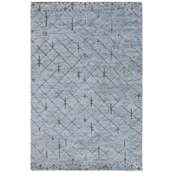 Culver Hand-Knotted Blue/Brown Area Rug by Darby Home Co