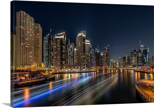 Dubai Marina by Vinaya Mohan Photographic Print on Canvas by Canvas On Demand