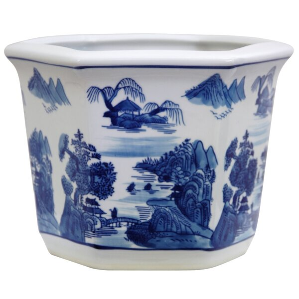 Christiane Chinese Porcelain Pot Planter by World Menagerie