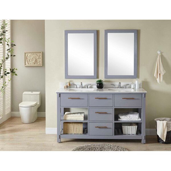Greenspan 61 Double Bathroom Vanity Set by Wrought Studio