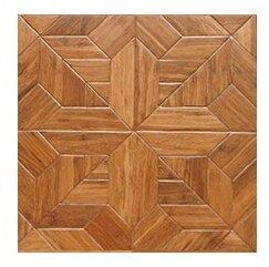 Salon Parquet Engineered 15.75 x 15.75 Bamboo Wood Tile by Islander Flooring