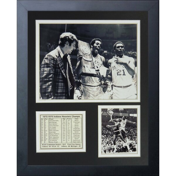 1975-1976 Indiana Hoosiers Champions Framed Memorabilia by Legends Never Die