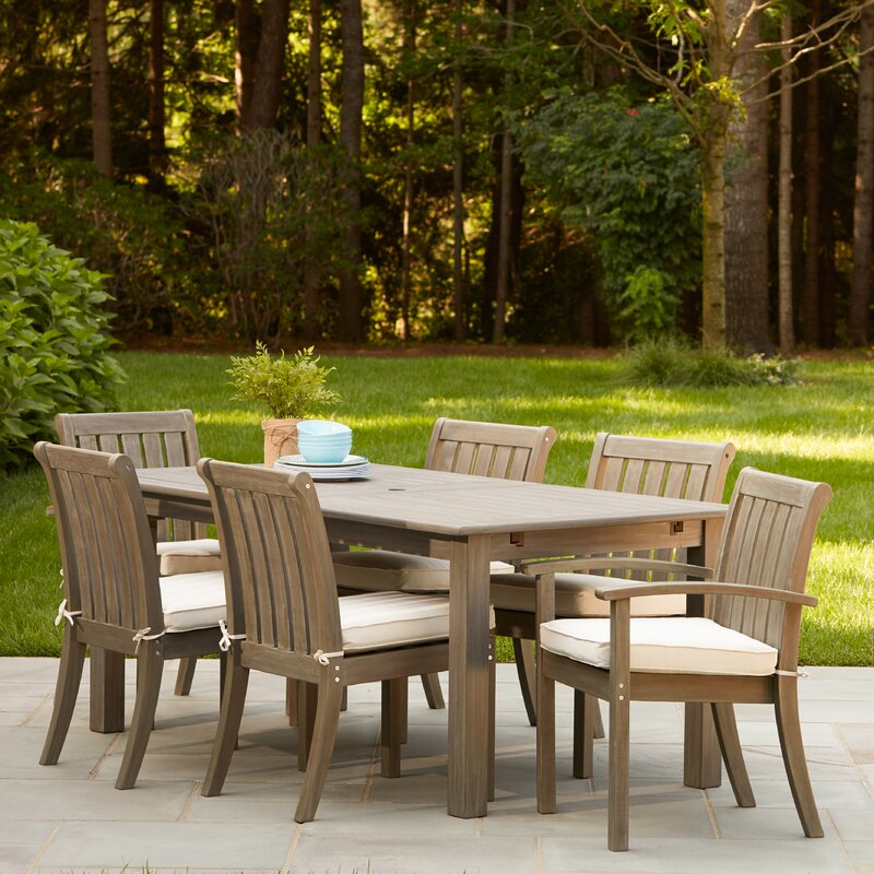 Rossi 7-Piece Dining Set with Cushions