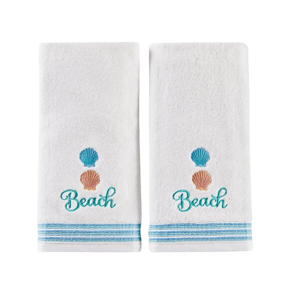 Vedette Cotton Hand Towel (Set of 2) by Highland Dunes