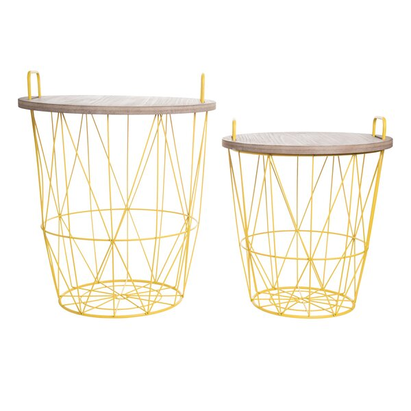 Adelene 2 Piece Nesting Tables by Mercer41 Mercer41