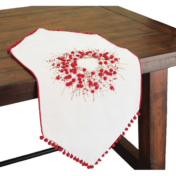 Holiday Berry Wreath Runner by Xia Home Fashions