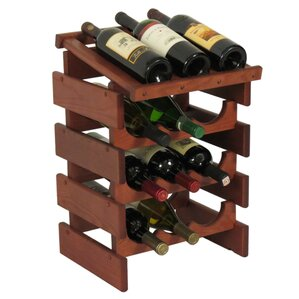 Dakota 12 Bottle Floor Wine Rack by Wooden Mallet
