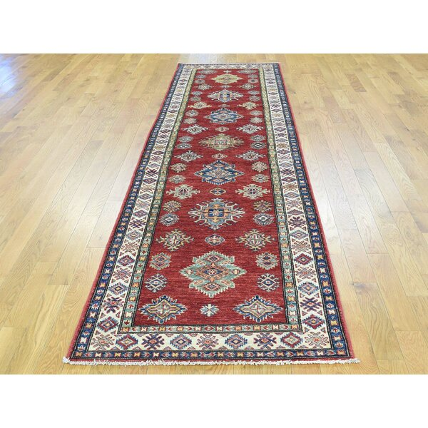 One-of-a-Kind Bechtold Handwoven Red Wool Area Rug by Isabelline