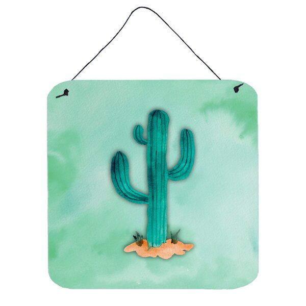 Western Cactus Aluminum Wall Décor by Wrought Studio