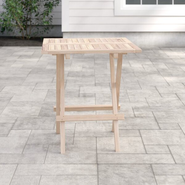 Ferebee Folding Teak Bistro Table by Highland Dunes