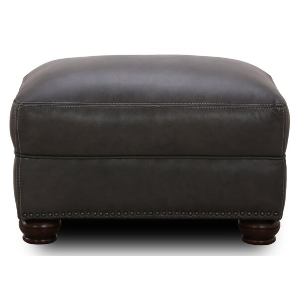 Bridgeview Leather Ottoman by Canora Grey