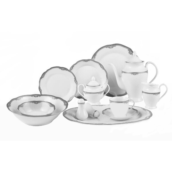 Elizabeth 57 Piece Dinnerware Set, Service for 8 by Lorren Home Trends