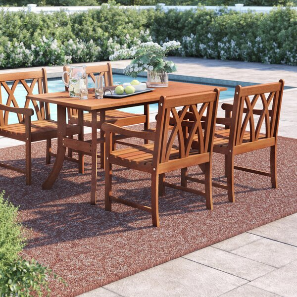 Amabel 5 Piece Dining Set by Beachcrest Home