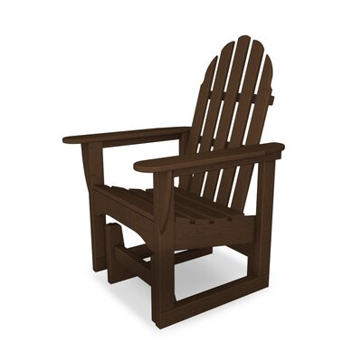 Classic Adirondack Plastic Glider Adirondack Chair POLYWOOD® Color: Mahogany