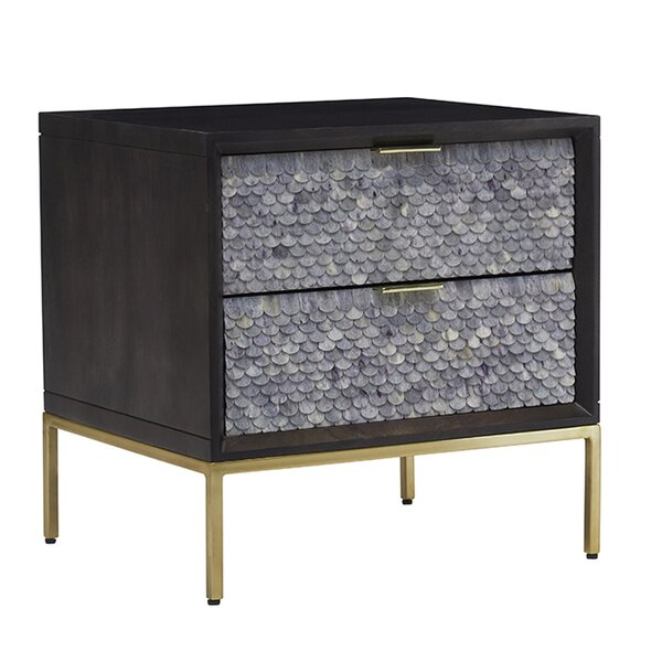 Foulkes Blaine 2 Drawer Nightstand by Bloomsbury Market
