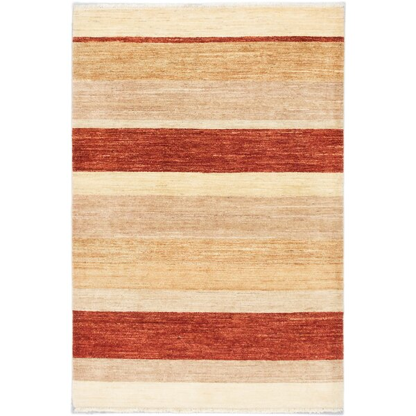 Kadyn Hand-Knotted Cream Area Rug by World Menagerie
