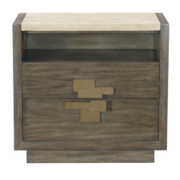 Profile 2 Drawer Nightstand by Bernhardt