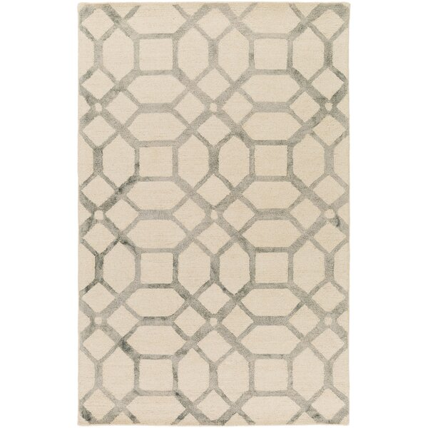 Glenmore Hand-Tufted Ivory/Gray Area Rug by Ivy Bronx